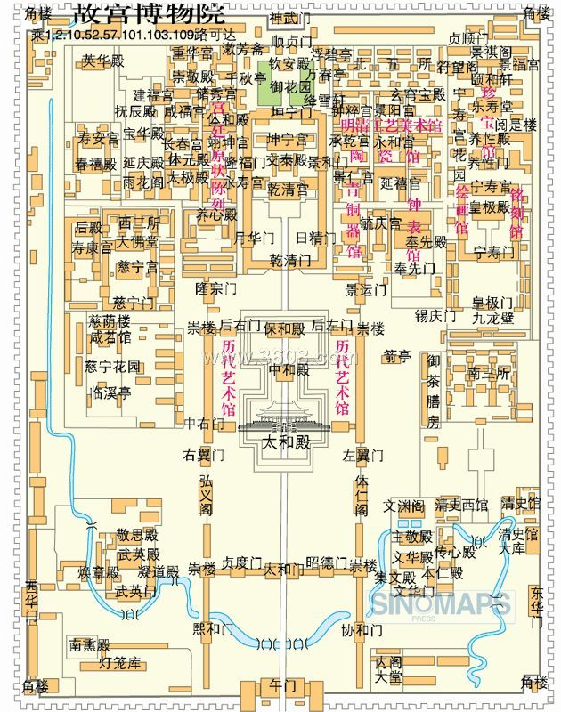 北京景点旅游地图和导游图大全