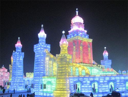 2012年哈尔滨冰雪节盛大开幕,附冰灯美图图片